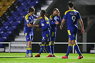 GOAL 2-0, AFC Wimbledon defender Paul Osew (37) during the EFL Trophy match between AFC Wimbledon and U21 Arsenal at Plough Lane, London, United Kingdom on 8 December 2020.