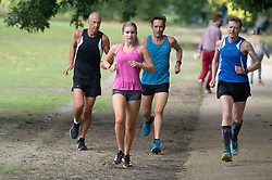 ©Licensed to London News Pictures 26/08/2020 Greenwich,UK. Serious runners doing laps of the park. The calm after the storm as people enjoy a bright and sunny Greenwich park in Greenwich, London this afternoon. Photo credit: Grant Falvey/LNP