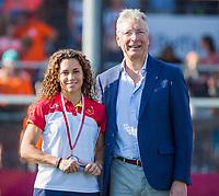 ANTWERPEN -  Best player, Georgina Oliva (Spain)  with  na  de   finale  dames  Nederland-Duitsland  (2-0) bij het Europees kampioenschap hockey.   COPYRIGHT  KOEN SUYK