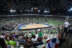 View on the court before friendly match between National teams of Slovenia and France for Eurobasket 2013 on August 31, 2013 in Arena Stozice, Ljubljana, Slovenia. (Photo by Matic Klansek Velej / Sportida.com)