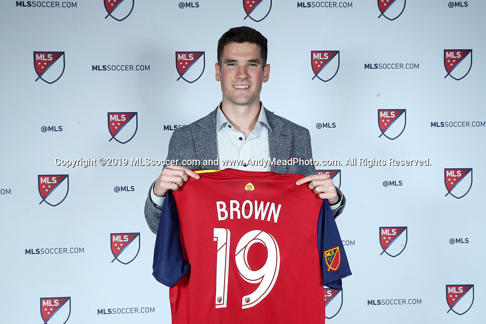 CHICAGO, IL - JANUARY 11: Sam Brown was taken with the seventeenth overall pick by Real Salt Lake. The MLS SuperDraft 2019 presented by adidas was held on January 11, 2019 at McCormick Place in Chicago, IL.
