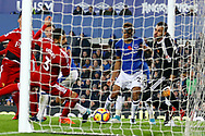 Dominic Calvert-Lewin of Everton (29 right)  scores his teams 2nd goal to make it 2-2. Premier league match, Everton vs Watford at Goodison Park in Liverpool, Merseyside on Sunday 5th November 2017.<br /> pic by Chris Stading, Andrew Orchard sports photography.