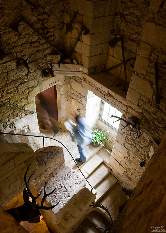 Dordogne France Ghostly Figures On A Stairwell La Maison Forte De Reignac Andrew Kulin Photography