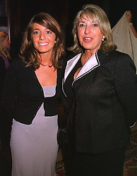 Left to right, TV presenter MISS CLAUDIA WINKLEMAN and her mother EVE POLLARD (Lady Lloyd) at a party in London on 5th May 1999.MRR 68