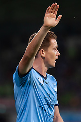 January 26, 2019 - Melbourne, VIC, U.S. - MELBOURNE, AUSTRALIA - JANUARY 26: Sydney FC midfielder Brandon O'Neil (13) gestures before taking a corner at the Hyundai A-League Round 16 soccer match between Melbourne Victory and Sydney FC on January 26, 2019, at AAMI Park in VIC, Australia. (Photo by Speed Media/Icon Sportswire) (Credit Image: © Speed Media/Icon SMI via ZUMA Press)
