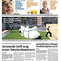 Parool 13 juni 2013 voorpagina: Henry Moore in de tuin van het Rijksmuseum