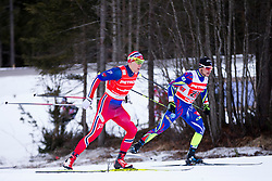 Anders Gloeersen (NOR) and Renaud Jay (FRA) during the Man team sprint race at FIS Cross Country World Cup Planica 2016, on January 17, 2016 at Planica, Slovenia. Photo By Urban Urbanc / Sportida
