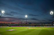 Edgebaston under the floodlights during the NatWest T20 Blast final match between Northants Steelbacks and Lancashire Lightning at Edgbaston, Birmingham, United Kingdom on 29 August 2015. Photo by David Vokes.