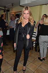 ZARA HOLLAND at a party hosted by Fred Sirieix, Maître d' on Channel 4's 'First Dates' at his favourite Spanish restaurant, El Pirata, 5-6 Down Street, London to celebrate the publication of his new book 'First Dates: The Art of Love' on 10th October 2016.