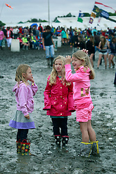03 May 2013. New Orleans, Louisiana,  USA. .New Orleans Jazz and Heritage Festival. .JazzFest turns into a mud-fest following the recent heavy rains and flooding in the region..Photo; Charlie Varley.