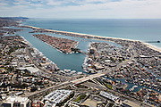 Aerial Stock Photos over Newport Beach California Orange County
