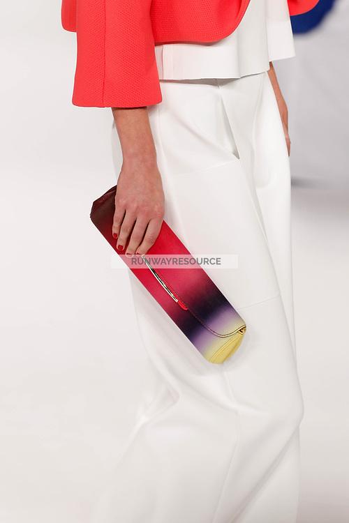 Alana Zimmer walks the runway wearing Carolina Herrera Spring 2015 during Mecedes-Benz Fashion Week in New York on September 8th, 2014