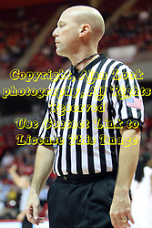 08 December 2012:  RefereeTodd VonSossan during an NCAA mens basketball game between the Western Michigan Broncos and the Illinois State Redbirds (Missouri Valley Conference) in Redbird Arena, Normal IL