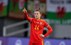 NEWPORT, WALES - Thursday, October 22, 2020: Wales' Hayley Ladd prepares to take a free-kick during the UEFA Women's Euro 2022 England Qualifying Round Group C match between Wales Women and Faroe Islands Women at Rodney Parade. Wales won 4-0. (Pic by David Rawcliffe/Propaganda)