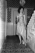 12/09/1962<br /> 09/12/1962<br /> 12 September 1962<br /> Fashion: Veronica Jaye Autumn/Winter collection 1962 fashion show at the Northbrook Hotel, Dublin. Gold lame cocktail dress worn by Helen.