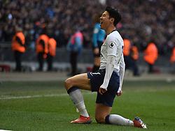 Tottenham Hotspur's Son Heung-min celebrates scoring their first goal