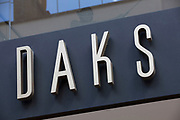 Sign for high end fashion and exclusive brand Daks.