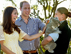 File photo dated 20/04/14 of the Duke and Duchess of Cambridge meeting Leuca the Koala during a visit to Taronga zoo Sydney during their official tour to New Zealand and Australia. The Duchess of Cambridge will have spent a decade as an HRH when she and the Duke of Cambridge mark their 10th wedding anniversary on Thursday. Issue date: Wednesday April 28, 2021.