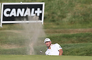 Graeme McDowell (NIR) plays from the front bunker on the 9th during Round One of the 2015 Alstom Open de France, played at Le Golf National, Saint-Quentin-En-Yvelines, Paris, France. /02/07/2015/. Picture: Golffile | David Lloyd<br /> <br /> All photos usage must carry mandatory copyright credit (© Golffile | David Lloyd)