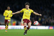 Joey Barton of Burnley crossing the ball. The Emirates FA cup, 4th round match, Arsenal v Burnley at the Emirates Stadium in London on Saturday 30th January 2016.<br /> pic by John Patrick Fletcher, Andrew Orchard sports photography.