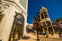 Luxury shopping street Via Rodeo (Rodeo Drive), Beverly Hills, California USA.