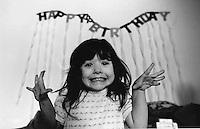 Thomasin Franken's birthday, age about ten..Photograph by Owen Franken