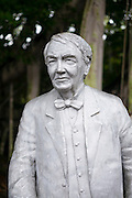 Statue of Thomas Edison at the magnate's winter estate home, Seminole Lodge, at Fort Myers, Florida, USA