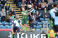 Dannie Bulman midfielder of AFC Wimbledon (4) during the Sky Bet League 2 match between Wycombe Wanderers and AFC Wimbledon at Adams Park, High Wycombe, England on 2 April 2016. Photo by Stuart Butcher.