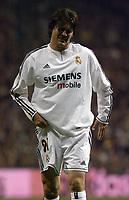 15/2/2004 Madrid, Spain.<br />La Liga (Spanish League), stage 24.<br />R.Madrid 1 - Valencia 1<br />R.Madrid's Solari at Santiago Bernabeu's Stadium.<br />© 2004 Alejandro leon Fernandez