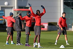 Paul Pogba of Manchester United trains with his team mates  - Mandatory by-line: Matt McNulty/JMP - 19/10/2016 - FOOTBALL - Manchester United - Training session ahead of Europa League game against Fenerbahce
