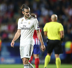 August 15, 2018 - Tallinn, Estonia - Real Madrid's Welsh forward Gareth Bale during the UEFA Super Cup between Real Madrid and Atletico Madrid at Lillekula Stadium on August 15, 2018 in Tallinn, Estonia. (Credit Image: © Raddad Jebarah/NurPhoto via ZUMA Press)