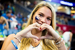 Anamarija, girlfriend of Luka Doncic of Slovenia during basketball match between National Teams of Slovenia and Spain at Day 15 in Semifinal of the FIBA EuroBasket 2017 at Sinan Erdem Dome in Istanbul, Turkey on September 14, 2017. Photo by Vid Ponikvar / Sportida