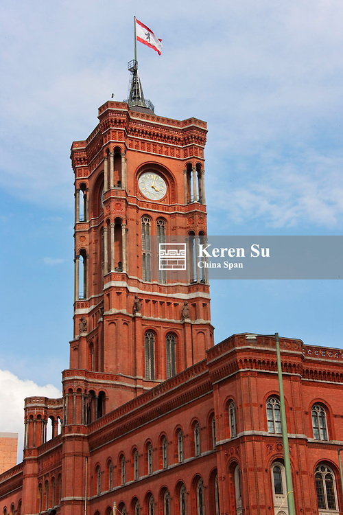 Clock Tower of the Red Town Hall, Berlin, Germany