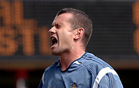 Photo: Henry Browne.<br /> Arsenal v Newcastle Utd. Barclaycard Premiership.<br /> 14/08/2005.<br /> Shay Given of Newcastle looks upset.