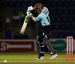 Surrey's Rory Burns<br /> <br /> Photographer Simon King/Replay Images<br /> <br /> Vitality Blast T20 - Round 14 - Glamorgan v Surrey - Friday 17th August 2018 - Sophia Gardens - Cardiff<br /> <br /> World Copyright © Replay Images . All rights reserved. info@replayimages.co.uk - http://replayimages.co.uk