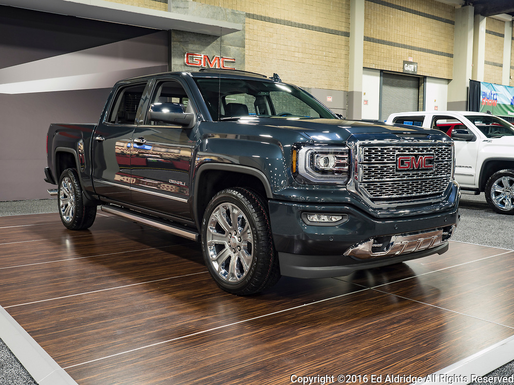 CHARLOTTE, NC, USA - NOVEMBER 17, 2016: GMC Denali  on display during the 2016 Charlotte International Auto Show at the Charlotte Convention Center in downtown Charlotte.