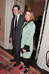 BLAISE PATRICK and NINA FLOHR at Tatler's Jubilee Party in association with Thomas Pink held at The Ritz, Piccadilly, London on 2nd May 2012.
