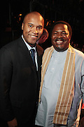 September 6, 2012- New York, New York:  (L-R) Attorney/Magazine Publisher Londell McMillian and Prince Nduka Obaigbena, Editor-in-Chief, ARISE Magazine  at The ARISE Magazine Icons Fashion Showcase for The 2012 Spring Mercedes-Benz Fashion Week featuring the designs of Ozwald Boateng, Tiffany Amber, Tsemaye Binitie, Maki Oh and Gavin Rajah held at Lincoln Center on September 6, 2012 in New York City. ARISE is Africa's first and foremost international style magazine. Highlighting African achievement in fashion, music, culture and politics, it provides a positive portrayal of the continent and its contribution to contemporary society across the world. (Terrence Jennings)