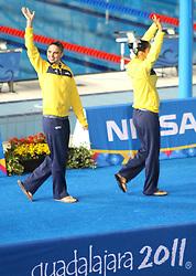 Eliminatórias do nado sincronizado nos jogos Pan-Americanos de Guadalajara 2011. FOTO: Jefferson Bernardes/Preview.com