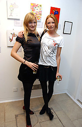 Left to right, sisters ALEXIA INGE and Model OLIVIA INGE  at the Alive & Well Dog Project Auction auction in aid of the Great Ormond Street Hospital Children's Charity at The Hospital, 24 Endell Street, London WC2 on 31st January 2007.<br /><br />NON EXCLUSIVE - WORLD RIGHTS