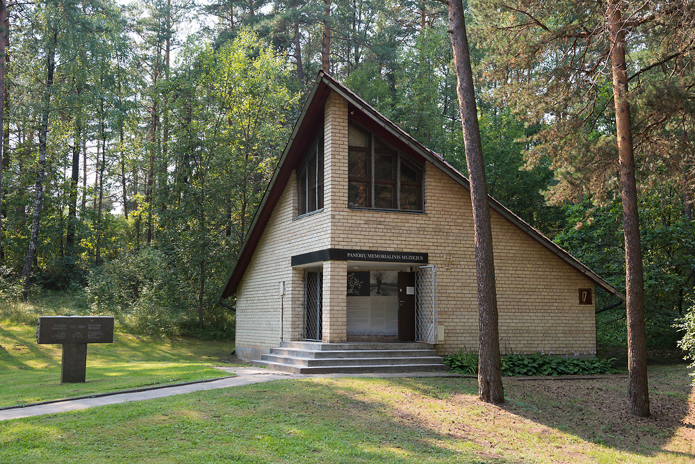 Paneriai, Lithuania - August 12, 2015: Paneriai memorial museum in Paneriai, Lithuania, is located on the site where an estimated 100,000 people died at the hands of the Nazis during World War II. Most of those killed were Jews, but some 20,000 Poles and 10,000 Soviet POWs were also executed here.