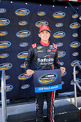 September 14, 2018 - Las Vegas, NV, U.S. - LAS VEGAS, NV - SEPTEMBER 14: Noah Gragson (18) Safelite Auto Glass Kyle Busch Racing Toyota Tundra wins the pole for the World of Westgate 200 NASCAR Camping World Truck Series Playoff Race on September 14, 2018 at Las Vegas Motor Speedway in Las Vegas, NV. (Photo by David Griffin/Icon Sportswire) (Credit Image: © David Griffin/Icon SMI via ZUMA Press)