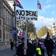 London, England, UK, 13 April 2019. Yellow vest demonstrate against the UK government's no deal leaving the European Union.