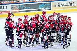 08.07.2016, Tiroler Wasserkraft Arena, Innsbruck, AUT, EBEL, HC TWK Innsbruck Die Haie vs HC Orli Znojmo, 8. Runde, im Bild HCI Innsbruck nach dem Soiel // during the Erste Bank Icehockey League 8th Round match between HC TWK Innsbruck Die Haie and HC Orli Znojmo at the Tiroler Wasserkraft Arena in Innsbruck, Austria on 2016/10/08. EXPA Pictures © 2016, PhotoCredit: EXPA/ Johann Groder