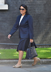 International Development Secretary Priti Patel arrives at 10 Downing Street in London for a Cabinet meeting.