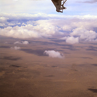 Africa, Kenya, Maasai Mara. Flying over the Great Rift Valley in Kenya.