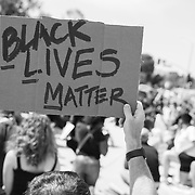 Several hundred people gathered for a peaceful protest in support of Black Lives Matter and the murder of George Floyd in Minneapolis.