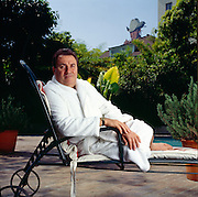 Giancarlo Parretti, an Italian investor who bought the struggling film company MGM for over a billion dollars and then went bankrupt.  Photographed at the Chateau Marmont.