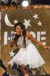 Talent Segment.  Contestant #5 Caija Campbell.  St. John Festival Queen: 2015.  Winston W. Wells Ball Field.  St. John, Virgin Islands.  21 June 2015.  © Aisha-Zakiya Boyd