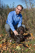Chris Kalis and his Pudelpointer, Blaze